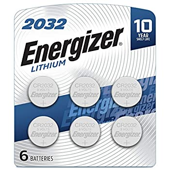 Energizer CR2032 Batteries 3V Lithium Coin Cell 2032 Watch Battery  6 Count