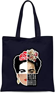all sas Bolsa de la compra Frida Kahlo 100% tela de algodón impresión Made in Italy