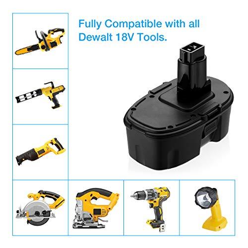 Powerextra 3.7Ah 18V DC9096 DC9098 Replacement Battery Compatible with Dewalt 18 Volt XPR Battery DC9099 DW9095 DW9096 DW9098 DE9038 Cordless Power Tools