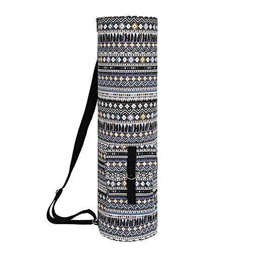 Hieefi Yoga Étnica Bolsa De Yoga Mat Yoga Bolsillo Portador De La Honda Yoga Mat Herramienta De Entrenamiento Bolsa De Almacenamiento Étnica Cilindro Bolsa De Deportes Yoga Estilo Herramienta 4