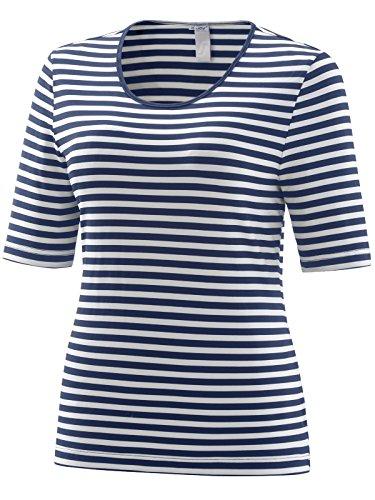 Joy Sportswear Allison T-Shirt für Damen mit Streifen und taillierter Passform, Sportshirt aus bequemem Baumwolljersey für Freizeit und Outdoor-Aktivitäten 42, Night Stripes