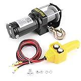 Cabrestante Eléctrico 12V, 3500lbs Cabrestante de Elevación Impermeable de Cable Sintético para Barco Automóvil ATV UTV