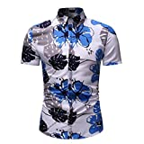 Camisa de Manga Corta con Estampado de piña Informal de Solapa de Moda de Verano para Hombres, Camisa Formal, Camisas de Trabajo clásicas con Botones XXL