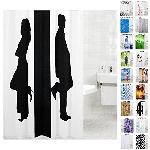 Sanilo Duschvorhang, viele schöne Duschvorhänge zur Auswahl, hochwertige Qualität, inkl. 12 Ringe, wasserdicht, Anti-Schimmel-Effekt (180 x 200 cm, Unisex)