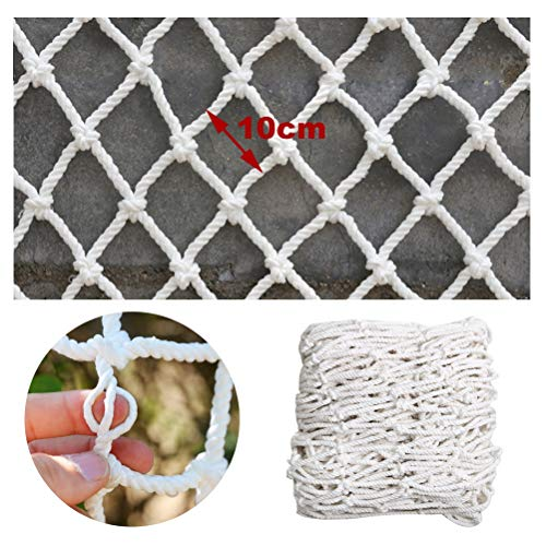 Safety Net Balcony Protection White Child Safety Net Decoration Net Fence Protection Net Woven Rope Net Cargo Net Fence Net for Railing Stairs Balcony Railing Playground Children Indoor Decoration Out