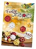 folia 25029 - Fancy - Shapes - Set Weihnachtszauber - ideal als Dekoration in Bodenvasen, Dekoschalen oder als Kranz