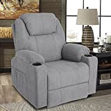 MAGIC UNION Wireless Remote Massage Recliner Chair with Heat 360 Rocking Chair for Babies Nursery Lazy Boy Recliner Chair for Living Room Fabric Recliner Sofa Swivel Chair on Clearance