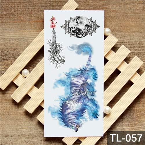 HXMAN 5pcs transfert de l'eau aquarelle renard panda autocollant de tatouage temporaire animaux géométriques motif Body Art imperméable à l'eau flash tatouage Tl-005 15
