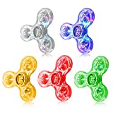 Fidget Spinner,5 Pack Led Light Up Fidget Spinner- Finger Toy Hand Fidget Spinner-for Kids with Anxiety Stress Reduce,Birthday Gift,Reward to Students,Stay Focus,Stress Relief(5 Pack)