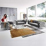 Designer Couchgarnitur 3-2-1-Sitzer Chesterfield Sofa Samt-Stoff Acryl-Füße Kristall Glas-Optik...