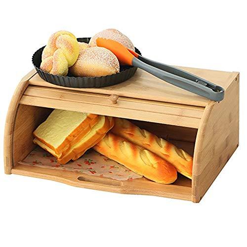 Sale!! CROWNXZQ Bread Box Nanzhu Desktop Storage Box, Baking Box Storage Box Food Physical Box, Suit...