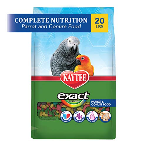 Kaytee Exact Rainbow Parrot And Conure Food, 20 Lb