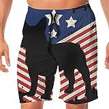 Pantalones Cortos Deportivos Patic French Bull American Flag Casual Sport Beach Board Short Atractivos Niños