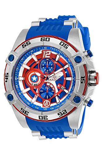 Invicta Marvel 52mm Bolt Viper Limited Ed CAPTAIN AMERICA Chrono Blue Dial Watch