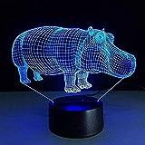 Lámpara de lava 3D con mando a distancia, interruptor móvil, inalámbrico, 3D, lámpara de mesa, decoración 3D, ilusión 3D, letra, dormitorio