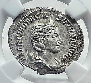 1000 IT OTACILIA SEVERA Authentic Ancient Rome AR Roman C Antoninianus (Double-Denarius) AU NGC