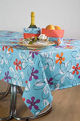 Esse Home – Mantel para mesa de primavera y verano – Cuadrada para 4 personas – Mezcla de algodón – Fabricado en Italia – Producto artesanal – Paloma