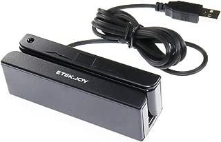 ETEKJOY USB 3-Track Magnetic Stripe Card Reader POS Credit Card Reader Swiper MagStripe Swipe Card Reader ET-MSR90