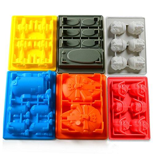 Eiswürfelform, Family Care 6er Set verschiedene Cartoon Formen Silikon Gussform Eiswürfel Silikonform, Ideal für Schokolade, Süßigkeiten, Götterspeise