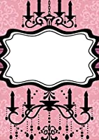 igsticker ポスター ウォールステッカー シール式ステッカー 飾り 1030×1456㎜ B0 写真 フォト 壁 インテリア おしゃれ 剥がせる wall sticker poster 005618 ラブリー シャンデリア ピンク