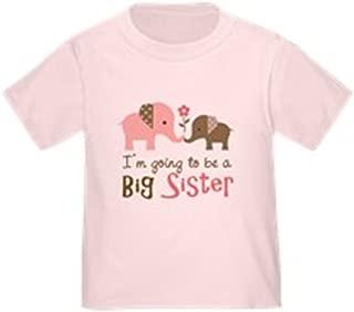 CafePress Big Sister to be - Mod Elephant Toddler Tshirt