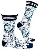 sockmyfeet - Lustige Socken Herren 43-47 Bunt, Dollar Scheine einzigartige Bunte Socken mit anspruchsvollen Fotos, gedruckt auf hochwertiger ägyptischer Baumwolle, Funny Socks zum Unterscheiden