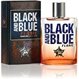 PBR Black and Blue Flame Cologne - Official Professional Bull Riders Fragrance - Authentic Body Spray for Men - Spicy, Masculine Scent - 3.4 oz 100 ml