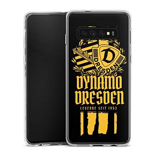 Silikon Hülle kompatibel mit Samsung Galaxy S10 Plus Case transparent Handyhülle Statement SG Dynamo Dresden SGD