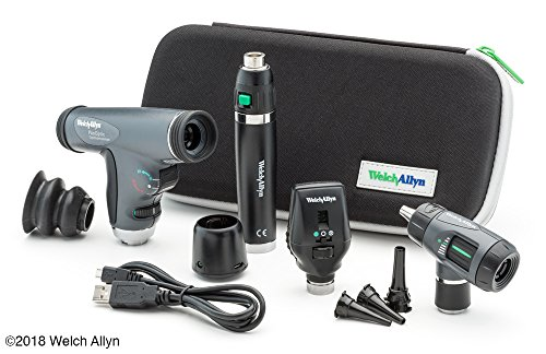 Welch Allyn Premium Diagnostic Set feat. Coaxial Ophthalmoscope, PanOptic Ophthalmoscope, MacroView Otoscope and Lithium Ion Rechargeable Handle