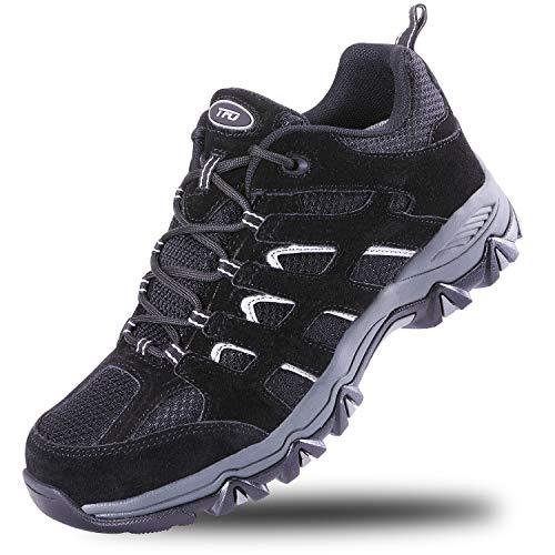TFO Waterproof Hiking Shoes Men Non-Slip Lightweight Sneakers for Outdoor Trekking Walking Black