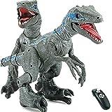 XLNB Primeval Dinosaur World, Remote Control Robot Dinosaur Velociraptor Blue, Rc Dinosaur Robot Toys, Children's Big Friends, Age 3+