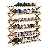 WYDA Zapatero Tallero de Zapatos de bambú, instalación Libre Plegable Estante de zapatería Organizador de Almacenamiento de Zapatos para Entrada/casa/Sala de Estar/balcón ropero