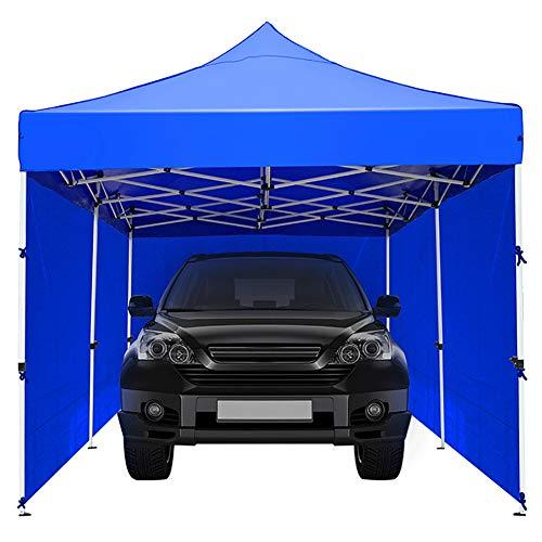 ZDYLM-Y Faltbarer Carport mit wasserdichtem/Sonnenschutzmaterial, tragbares Garagenzelt mit Seitenwänden, für die Aufbewahrung von Motorradgarten,3x4.5m