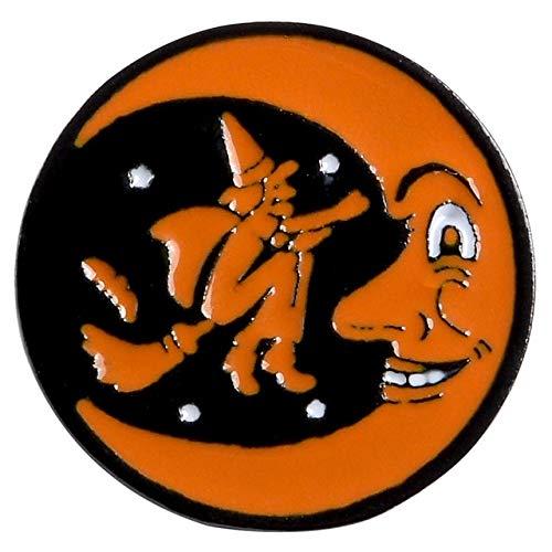 WEHONG Halloween Icons Emaille Pin Kaffee Mond Geist K¨¹rbis Regenschirm Abzeichen Broschen Rucksack Kleidung Anstecknadel Geschenke???Mond