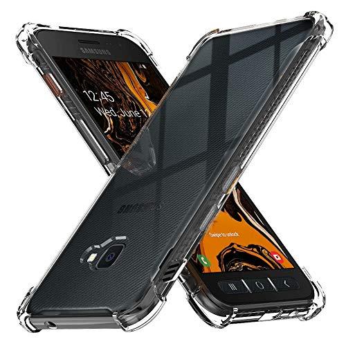 Peakally Funda Samsung Galaxy Xcover 4S, Transparente Silicona Funda para Samsung Galaxy Xcover 4S Carcasa Flexible Claro Ligero TPU Fundas [Antideslizante] [Resistente a arañazos]-Transparente