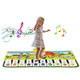 ZJQY Toys for 1-6 Year Old Boys Girls, Piano Music Dance Mat