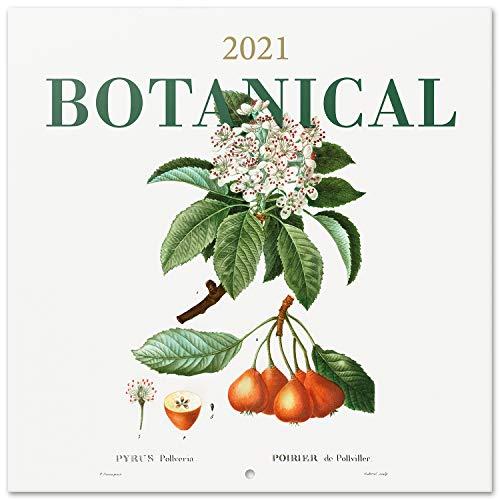 Calendario 2021 da Muro Botanical, calendario 2021 da parete, 16 mesi, 30x30 cm
