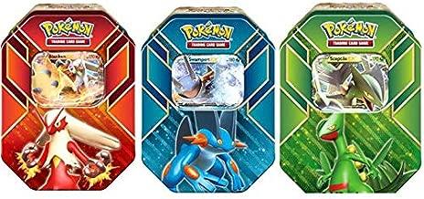 Pokemon Hoenn Power Sceptile, Blaziken & Swampert Set of 3 Collector Tins