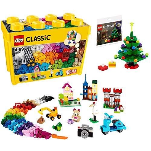 【メーカー特典】レゴ(LEGO) クラシック 黄色のアイデアボックス <スペシャル> 10698 + クリスマスツリーミニセット付き