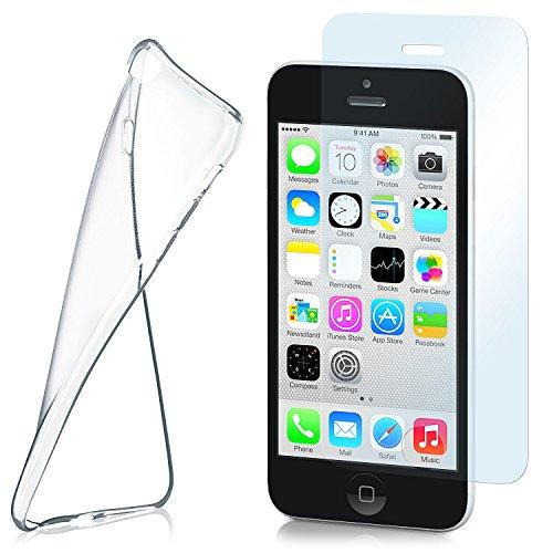 MoEx Funda de Silicona Compatible con iPhone 5c [360 Grados] Protector de...