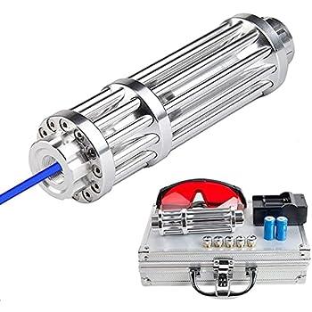 HAOXUAN Lampe de Poche à indicateur Bleu Haute Puissance avec réglage de Point Unique, Longueur focale réglable 450 nm, kit de Stylo de Mise au Point réglable de 500 à 10000 M