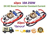 TECNOIOT 2pcs DC-DC Boost Converter Constant Current Mobile Power Supply 10A 250W LED Driver
