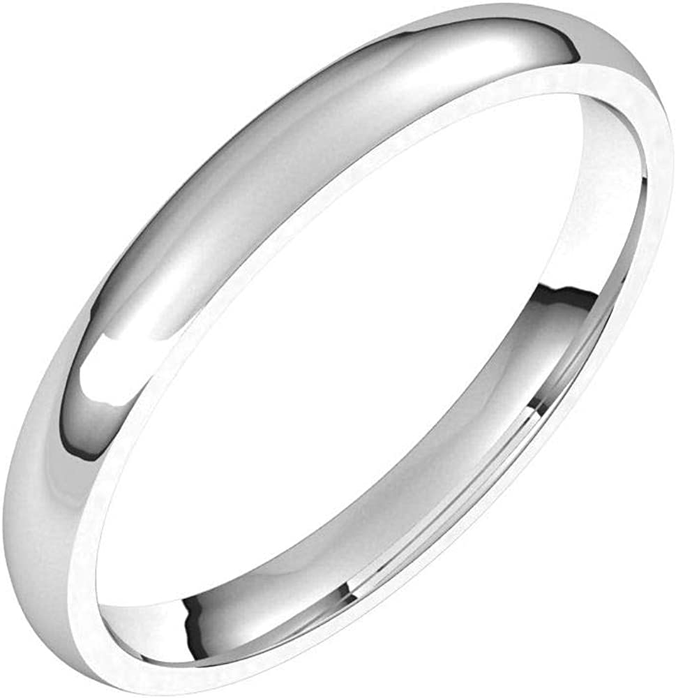 Comfort Fit Wedding Band Solid Shipping included 925 Silver Sterling Cheap mail order shopping Real 10k 14k