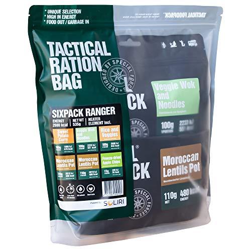 Tactical Foodpack - Ranger | vegane, gefriergetrocknete Premium Mahlzeiten - Instant Outdoor Nahrung für Camping, Trekking und Büro | Natürliche Zutaten, schnelle Zubereitung, Lange Haltbarkeit