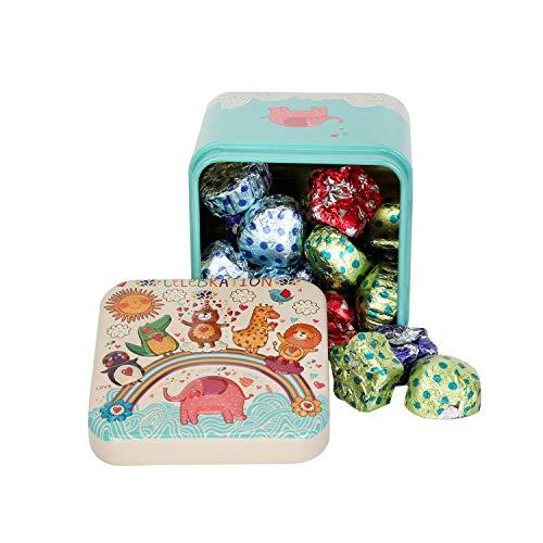 Chocoloony Chocolate Gift Tin Box for Kids, Birthday Return Gift 20pcs (120gm)