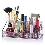Jolintek Organizador de Maquillaje, Caja Maquillaje Organizador Acrílico Organizador Maquillaje Organizador Escritorio Maquillaje Caja Cosméticos Estante de Maquillajes Joyería Organizador, Púrpura(A)