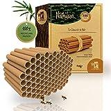 Bambetcald© 200 nidi con diametro di 10 mm per api selvatiche – 100% tubi di cartone ecologici per insetti, tubi di nido e boccole come materiale di riempimento per hotel d'api