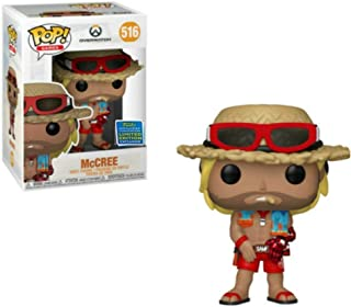 Funko Pop! Overwatch Lifeguard Beach McCree 2019 Shared Sticker Summer Convention Exclusive SDCC