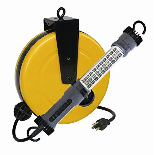 LED Retractable Reel Work Auto Shop Repair Light 300 Lumen Alert Stamping 3230SMS