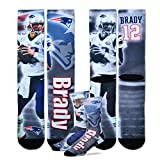 For Bare Feet Tom Brady New England Patriots NFL Drive Player Profile Socks Large